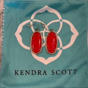 Kendra Scott Elle Earrings - Red